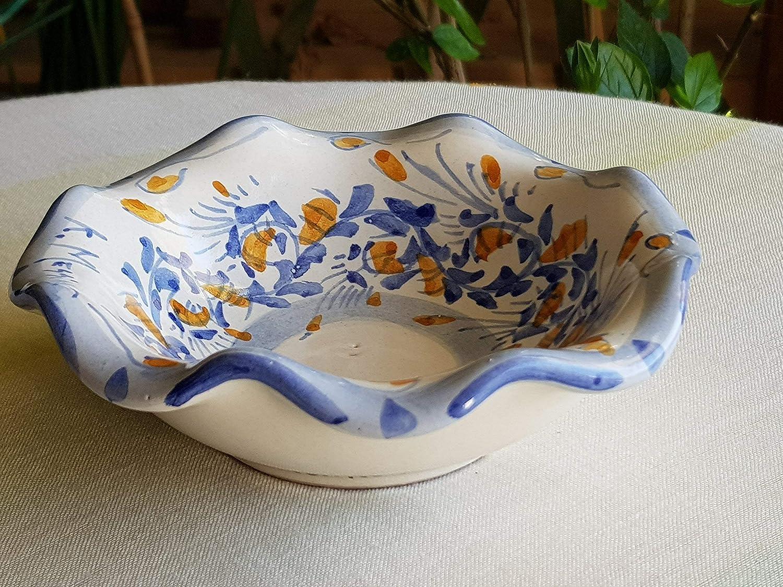 Porta Oggetti In Ceramica A Forma Di Cassata Siciliana Decorato A Mano 17 cm