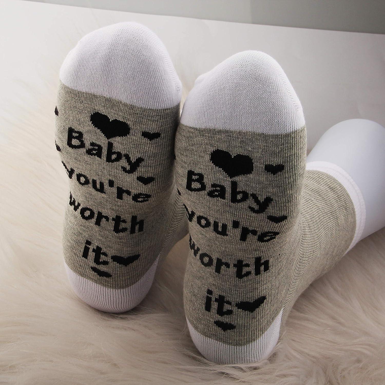 JXGZSO IVF Socks Infertility Socks Baby You/'re Worth It Socks IVF Strong Frozen Embryo Transfer Socks
