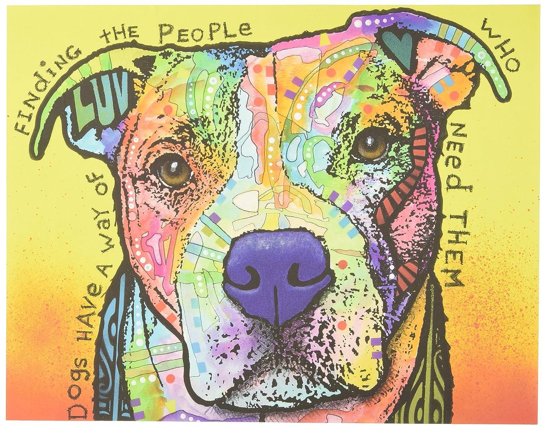 Amazon.com: My Wonderful Walls Pit Bull Splash Art Wall Decal Dogs ...