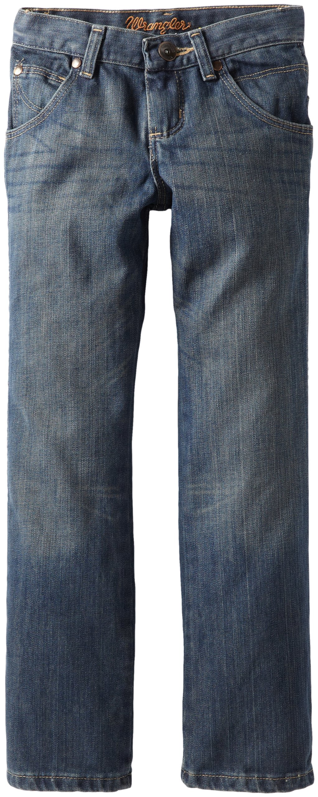 Wrangler Big Boys' Relaxed Fit Boot Cut Jeans, Night Sky, 12