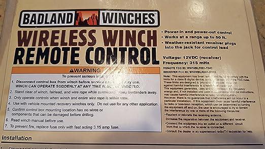 Amazon.com: Badland wireless winch remote control by Badland Winches on badlands 12000 winch wiring diagram, warn atv winch wireless remote wiring diagram, superwinch wireless remote wiring diagram,