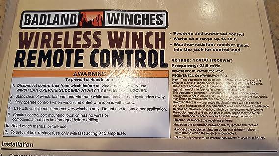 Amazon.com: Badland wireless winch remote control by Badland Winches on