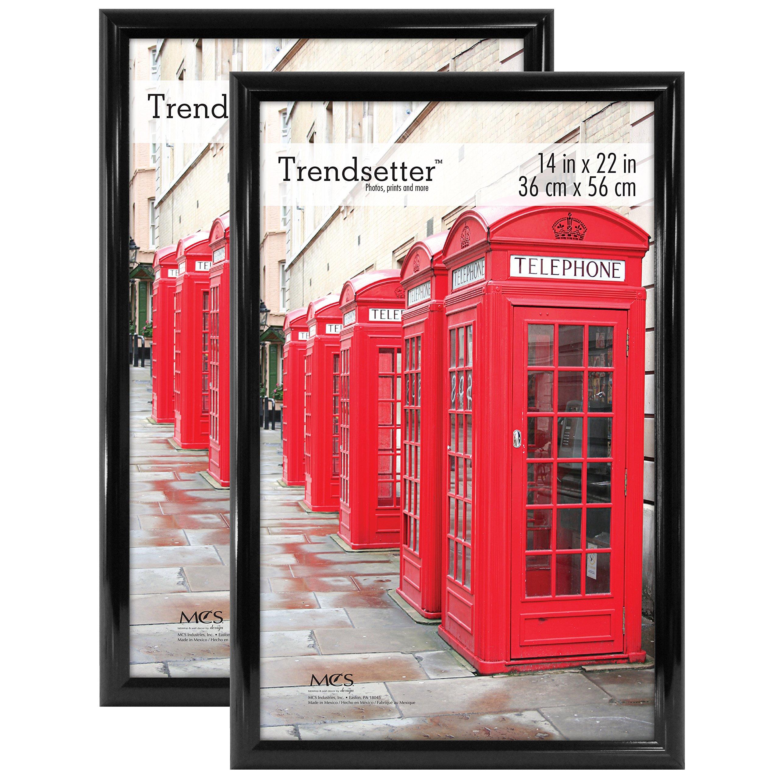 MCS Trendsetter 14x22 Inch Poster Frame (2pk), Black (65751) by MCS