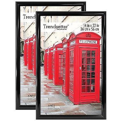 Amazon.com - MCS Trendsetter 14x22 Inch Poster Frame (2pk), Black ...
