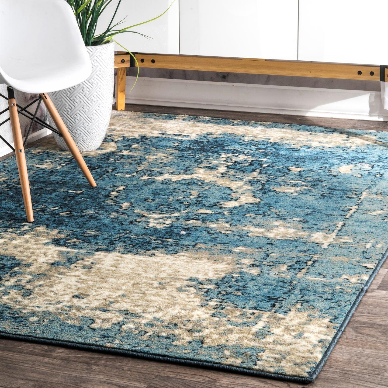 Amazon.com: nuLOOM Vintage Lindsy Area Rug, 6\' x 9\', Blue: Home ...