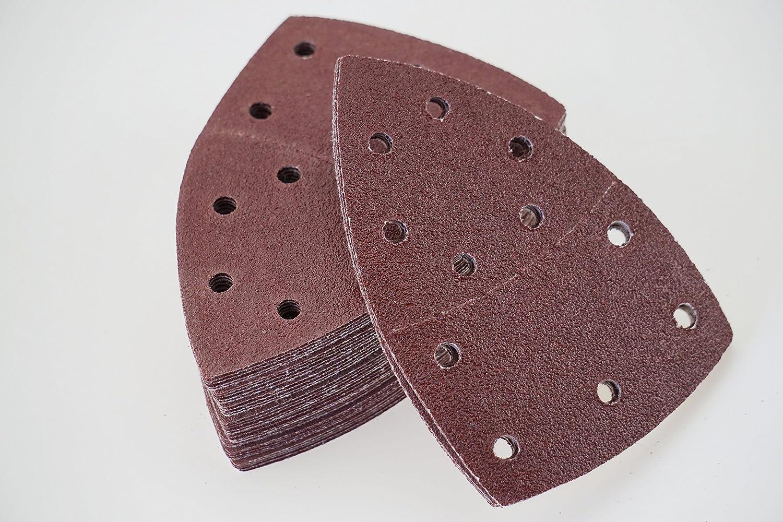 105 x 152 mm Grain 240//Feuilles abrasives Lot de 50 feuilles de papier abrasif pour ponceuse multifonction