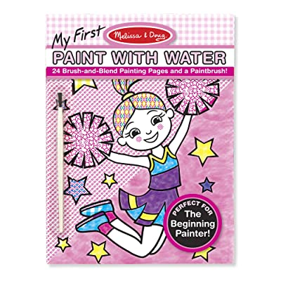 Melissa & Doug My First Paint With Water Art Pad - Cheerleaders, Flowers, Fairies, and More (24 Pages): Melissa & Doug: Toys & Games