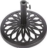 "17.5"" Cast Iron Patio Umbrella Base by Trademark Innovations (Black)"