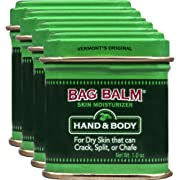 Vermont's OriginalBag Balm Ointment, 1 Ounce Tin (Pack of 4), Moisturizing Ointment for Dry Skin That can Crack Split or Chafe on Hands Feet Elbows Knees Shoulders and More