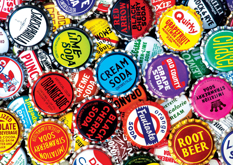 Buffalo Games - Soda Bottle Caps - 300 Large Piece Jigsaw Puzzle