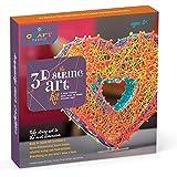 Craft-tastic – String Art Kit – Craft Kit Makes One 3D String Art Heart