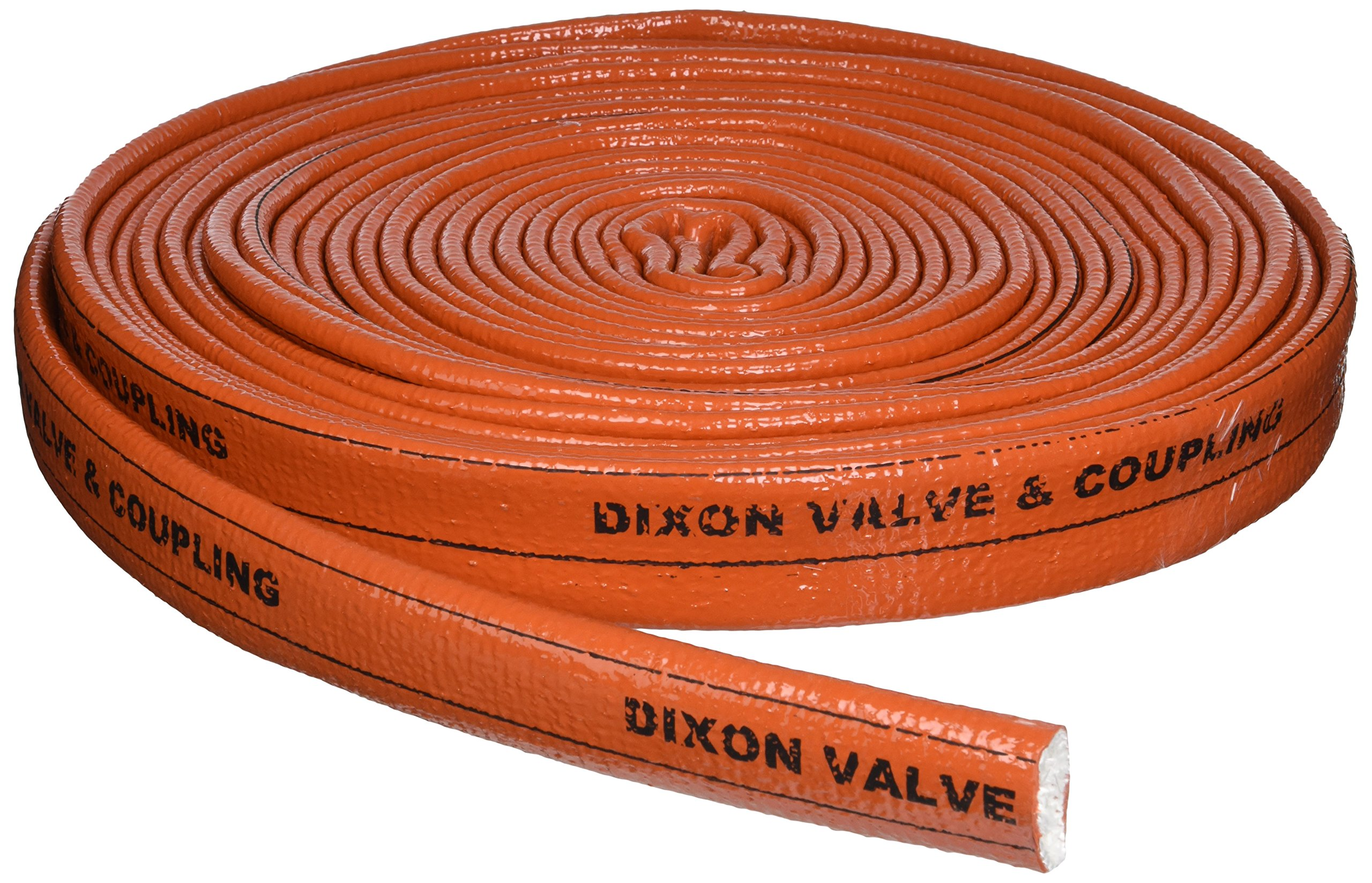 Dixon Valve 2510-16 Iron Oxide Red Fiberglass Hose Fire Jacket, 50' Length, 1'' ID
