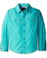 Calvin Klein Big Boys' Horizontal Stripe Shirt