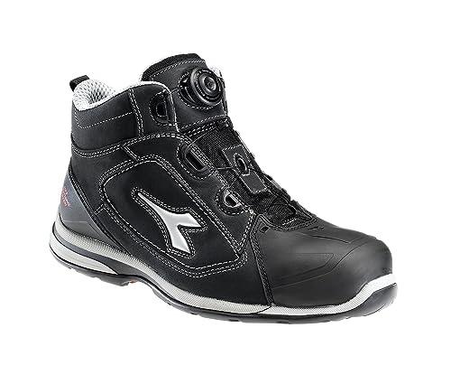 Diadora Hi Jet Boa S3 Zapatos de Seguridad con tecnología Geox, Color Negro, Talla