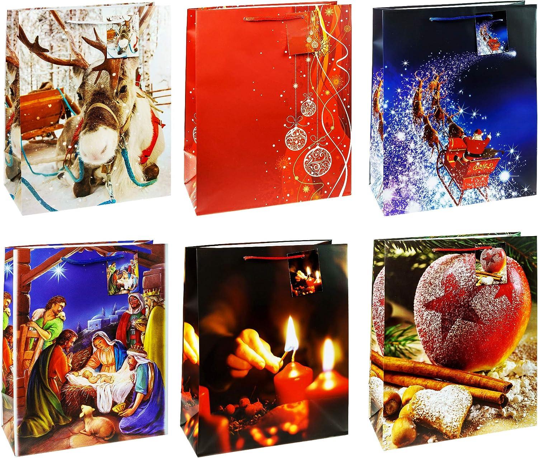 32/x 26/x 13,5/cm 11/pezzi TSI 87311-a sacchetto regalo Natale Serie misura: grande