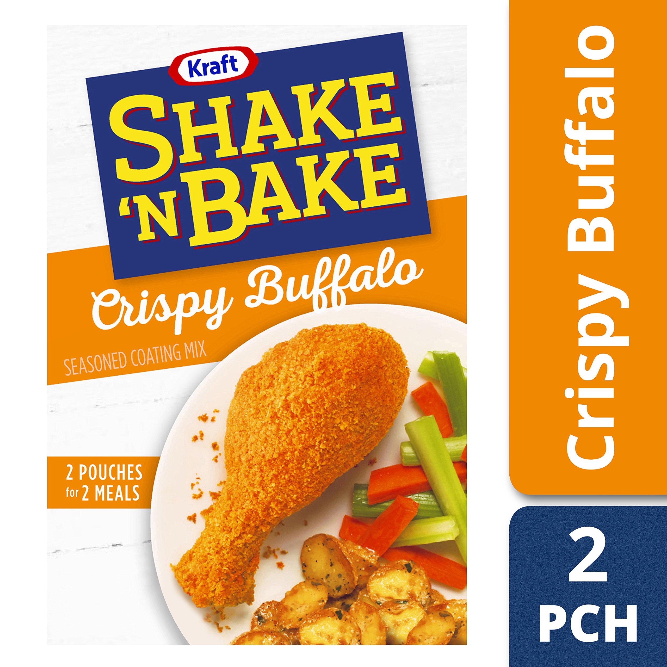 Kraft Shake N Bake Seasoned Coating Mix Box, Crispy Buffalo, 4.75 Ounce (Pack of 8)
