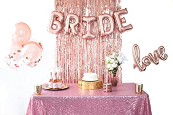 bachelorette party decorations bridal shower supplies rose gold kit includes bride love