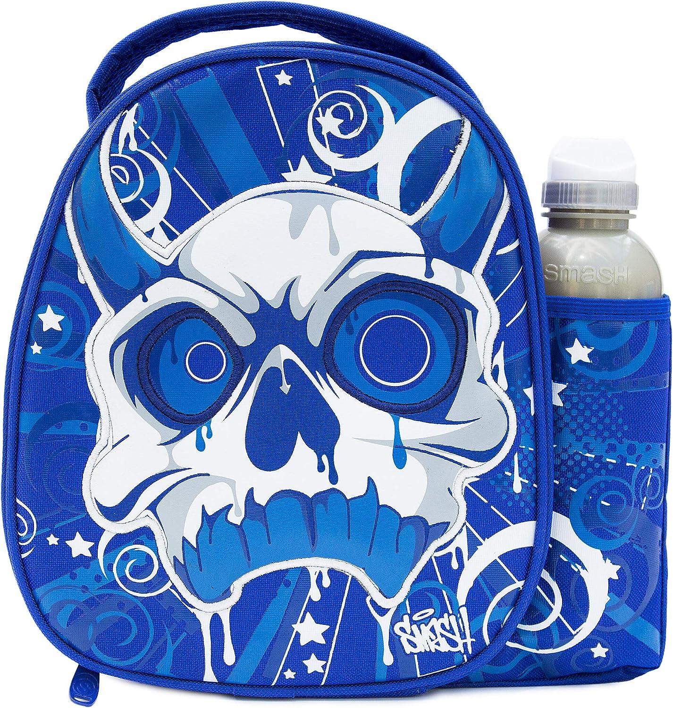 Smash Bolsa térmica para viandas y Botella, Tela, Azul, Voodoo Case and 500ml Bottle