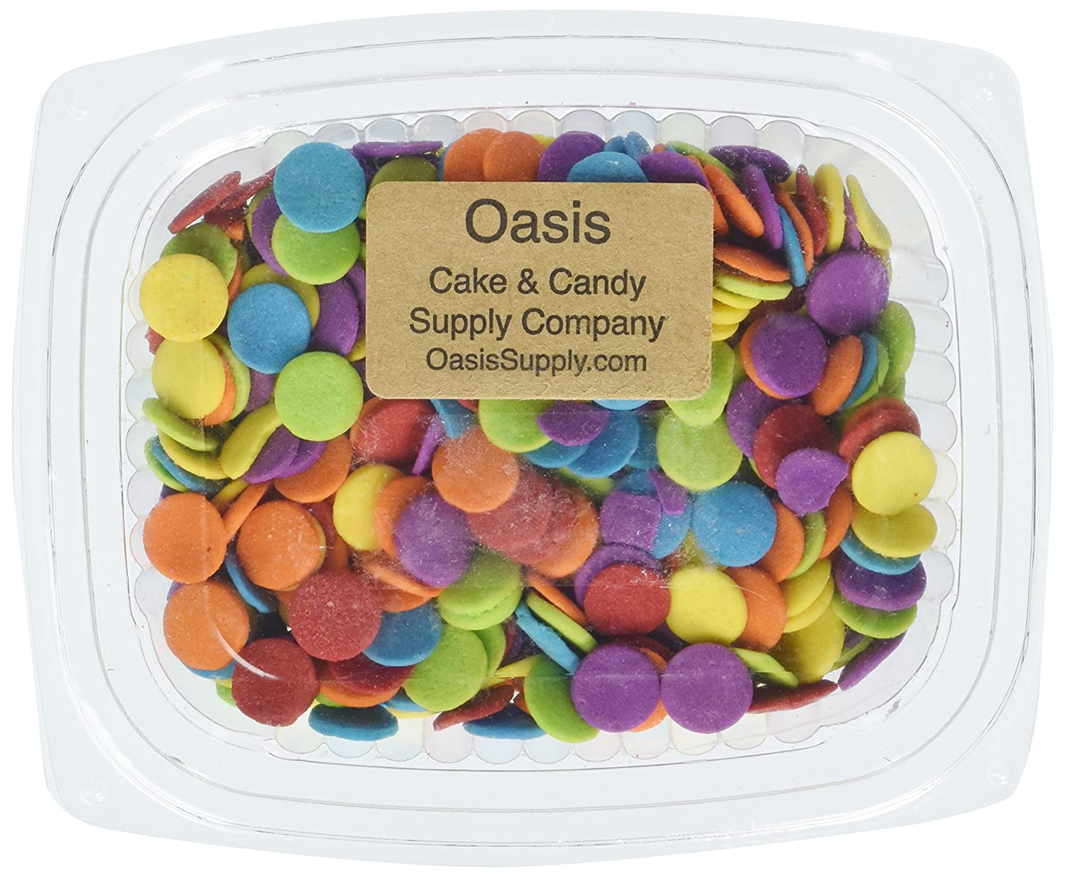Oasis Supply Edible Confetti Sprinkles Cake Cookie Cupcake Quins Primary  Jumbo, 8 Ounce