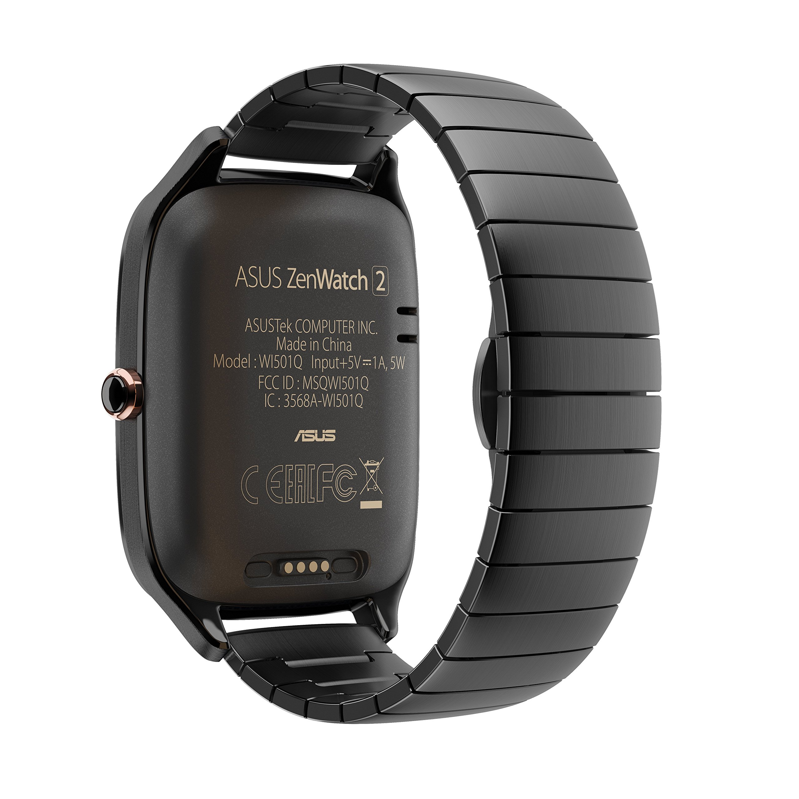 ASUS ZenWatch 2 Gunmetal Gray 41mm Smart Watch with HyperCharge Battery, 1.63-inch AMOLED Gorilla Glass 3 TouchScreen, 4GB Storage, IP67 Water Resistant by Asus (Image #5)
