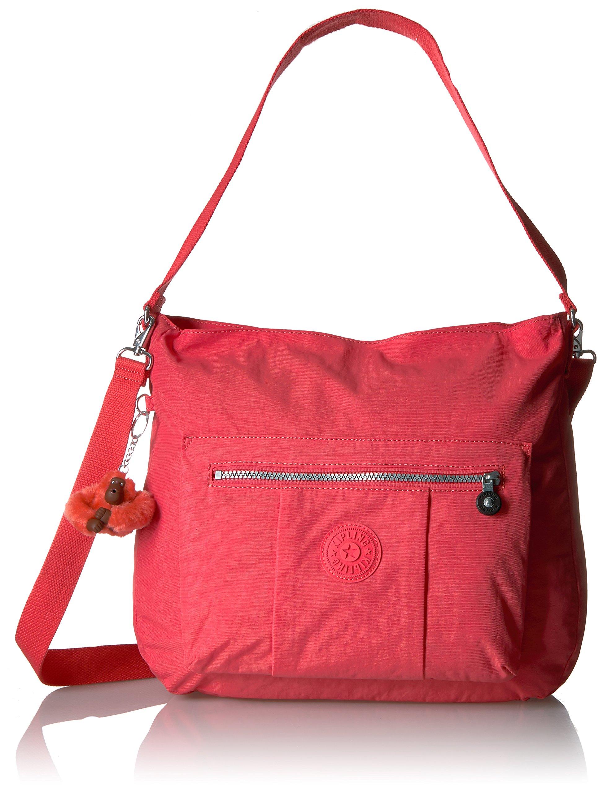 Kipling Carley Solid Hobo Crossbody Bag, Papaya