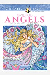 Creative Haven Beautiful Angels Coloring Book (Adult Coloring) Paperback