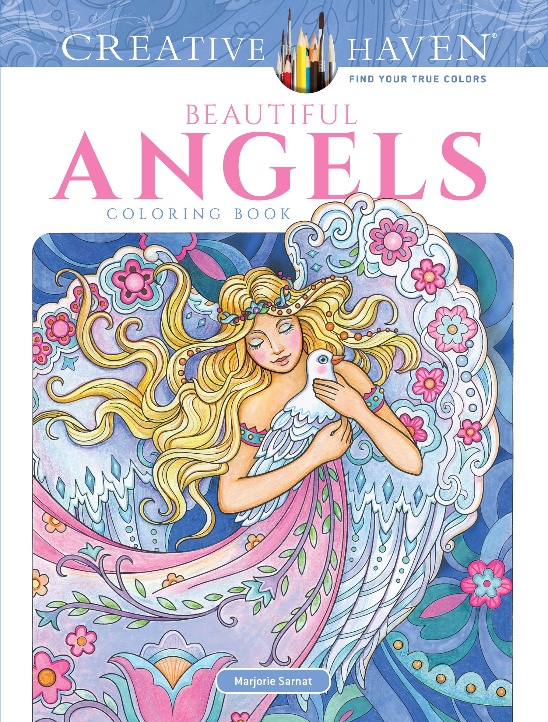 Creative Haven Beautiful Angels Coloring Book (Adult Coloring ...