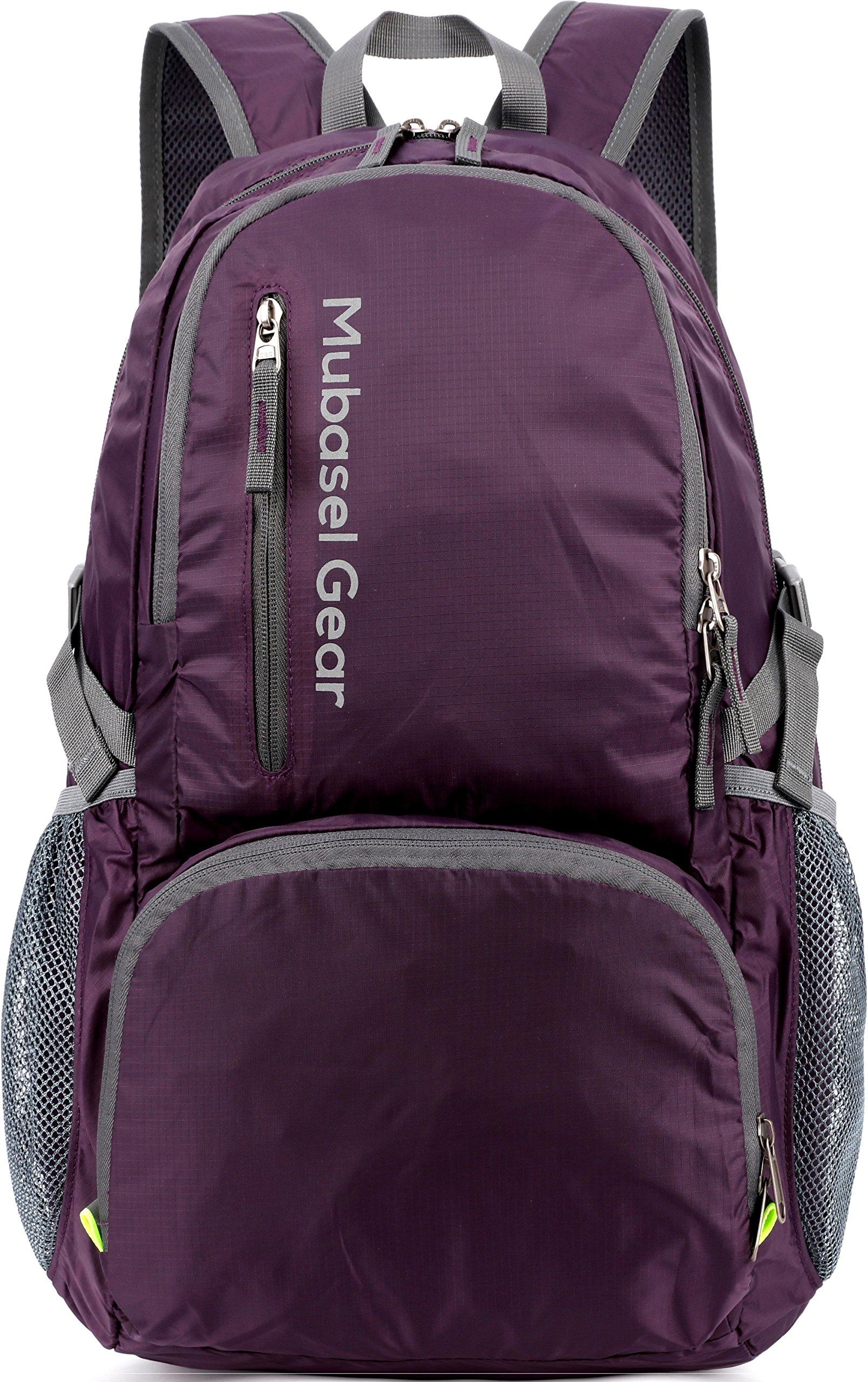 Mubasel Gear Backpack - Lightweight Backpacks for Travel Hiking - Daypack for Women Men (Purple) by Mubasel Gear (Image #1)