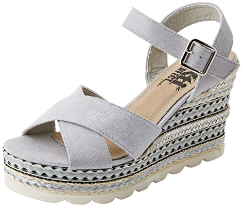 XTI 47778 Sandali con Cinturino alla Caviglia Donna Argento Platinium