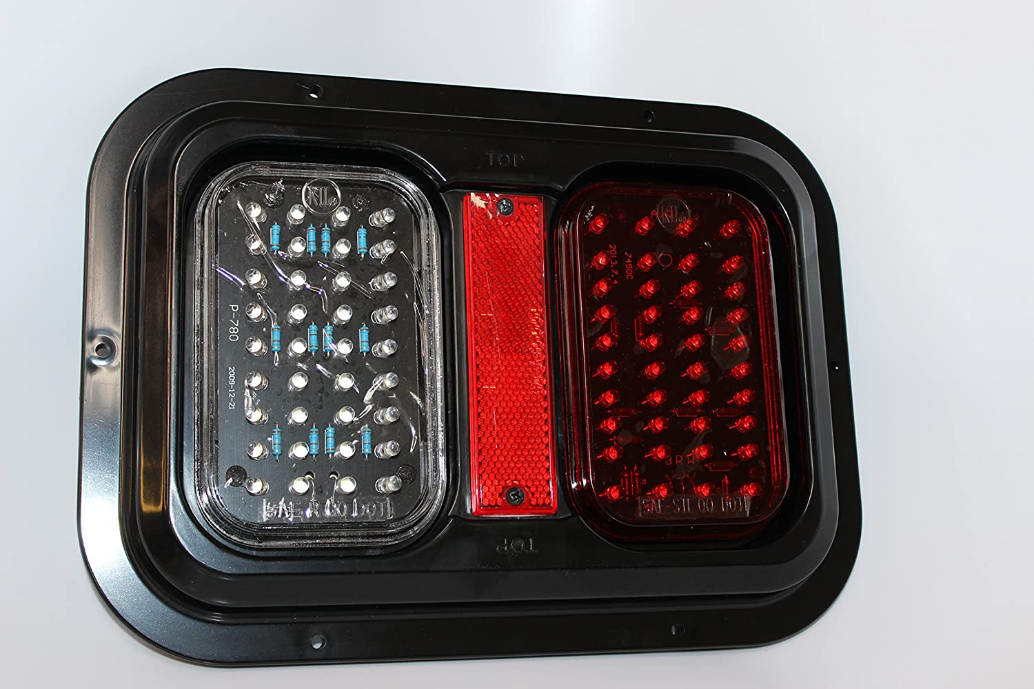 Kaper II L15-0089WH Red Trailer Stop/Turn/Tail Light Lights & Lighting Accessories Tail Lights
