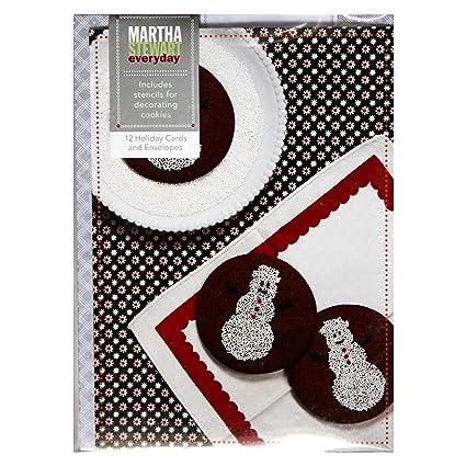 Amazon Com Martha Stewart Everyday 12pc Set Round Snowman
