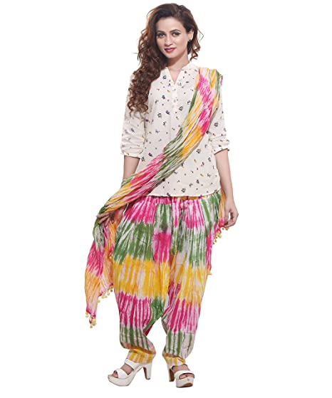 76fde67a20f Rama Jublee Women's Cotton Printed Patiala with Dupatta Set (Green,Free  size): Amazon.in: Clothing & Accessories