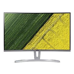 "Acer ED273 wmidx 27"" Full HD (1920 x 1080) Curved 1800R VA Monitor with AMD FREESYNC Technology - 4ms   75Hz Refresh Rate   HDMI, DVI & VGA port"