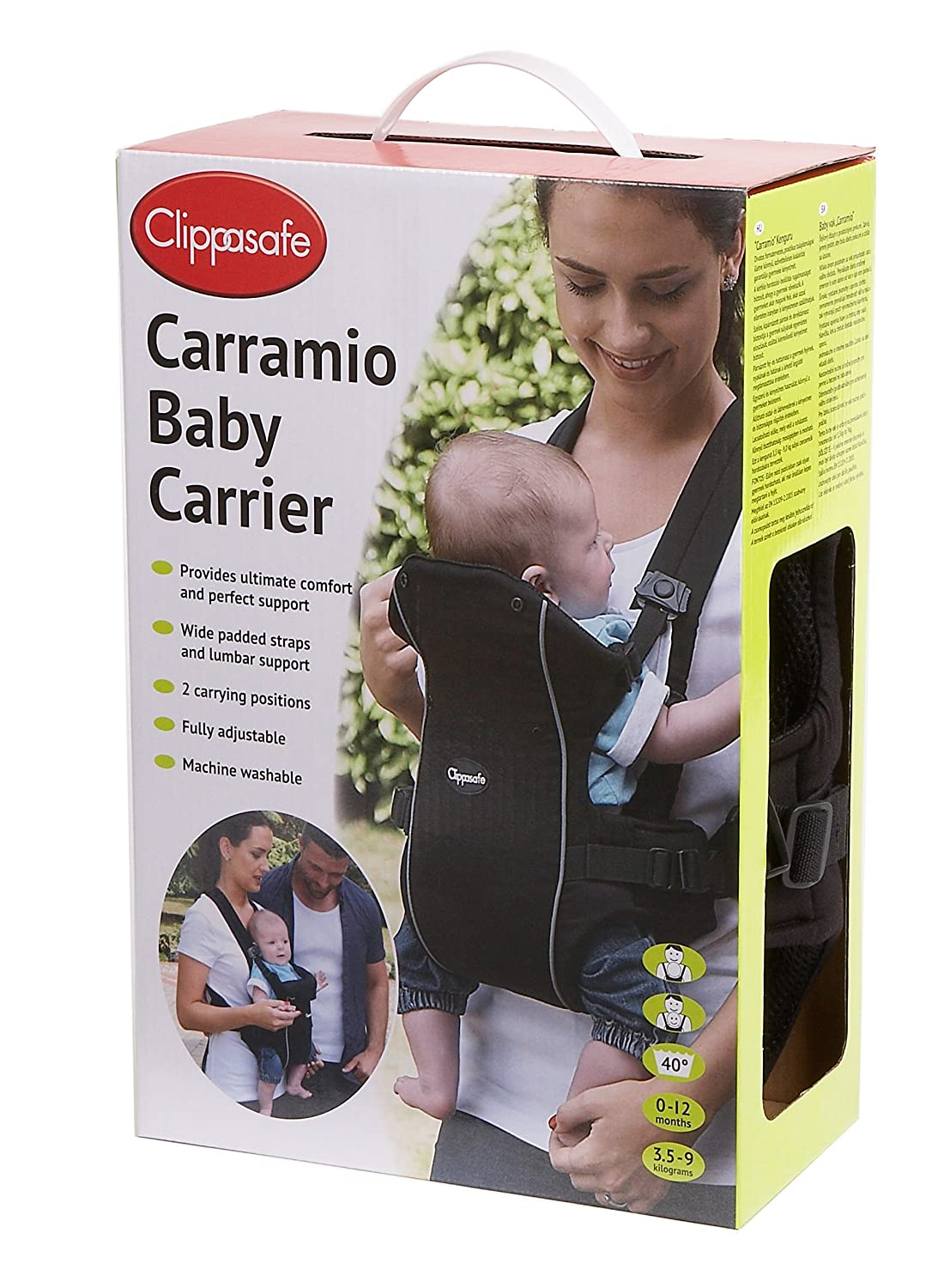 Clippasafe Carramio Baby Carrier (Black) CL600