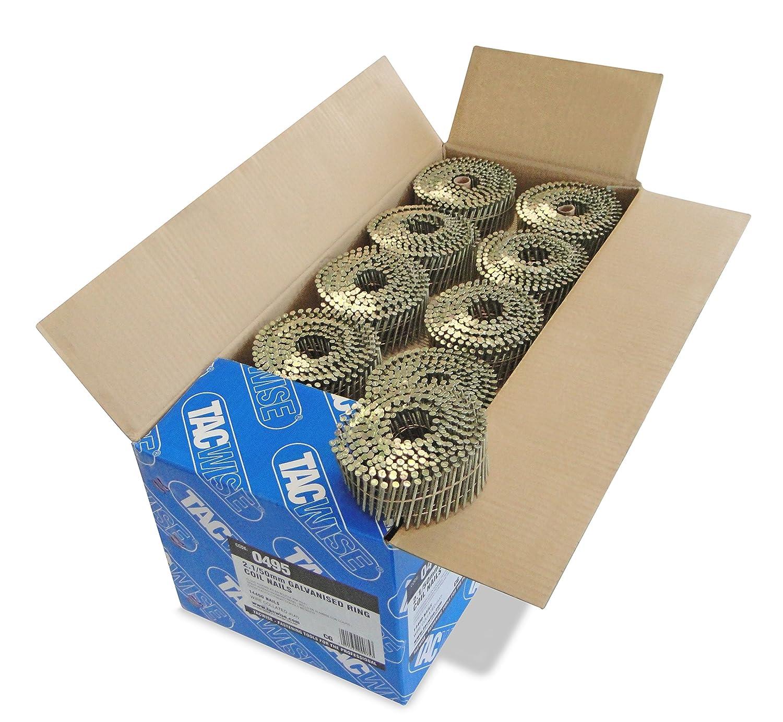 Tacwise 0495 - Bobina plana de clavos galvanizados y anillados de tipo 2.1/50 mm