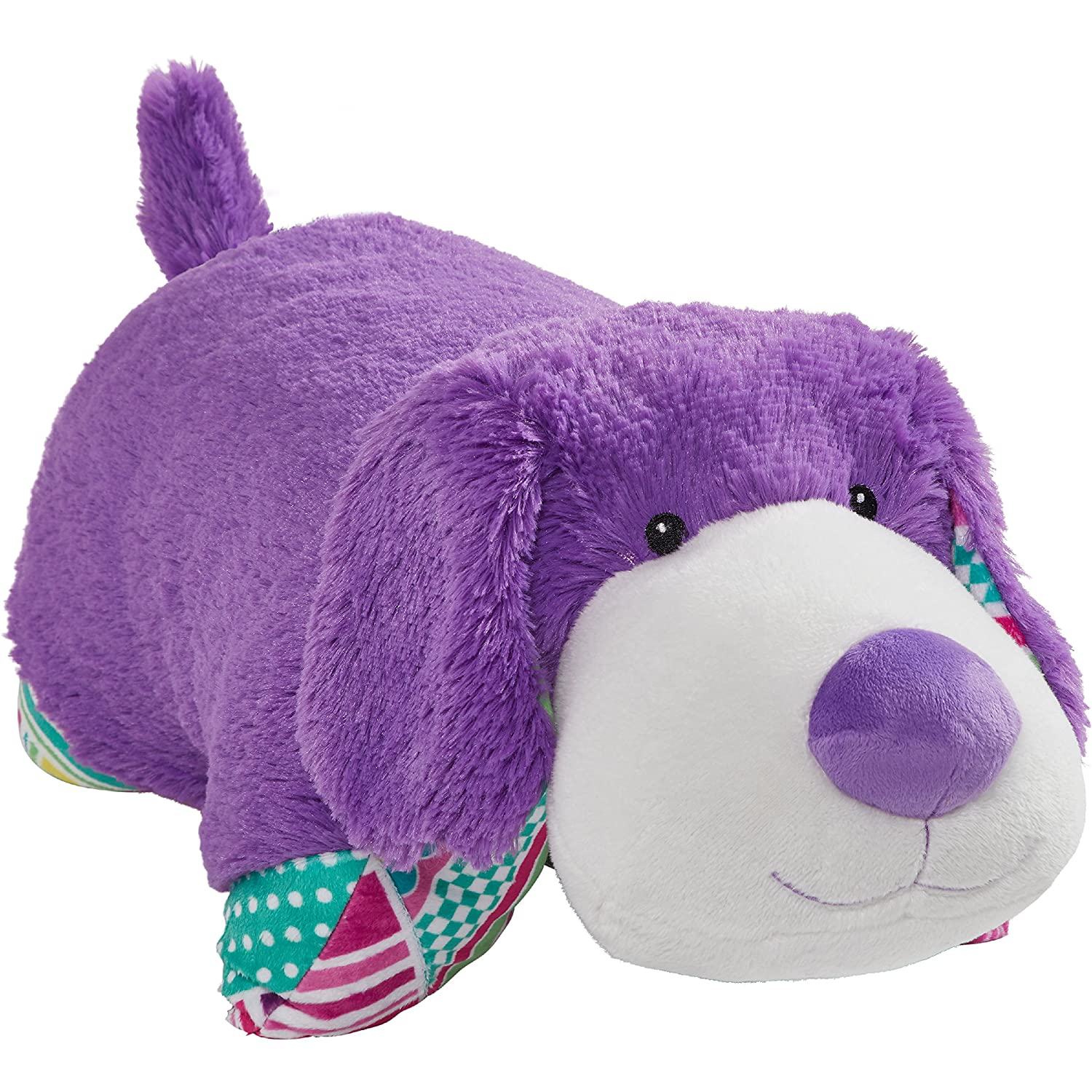 Pillow Pets Colorful Purple Puppy 18 Stuffed Animal Plush Toy