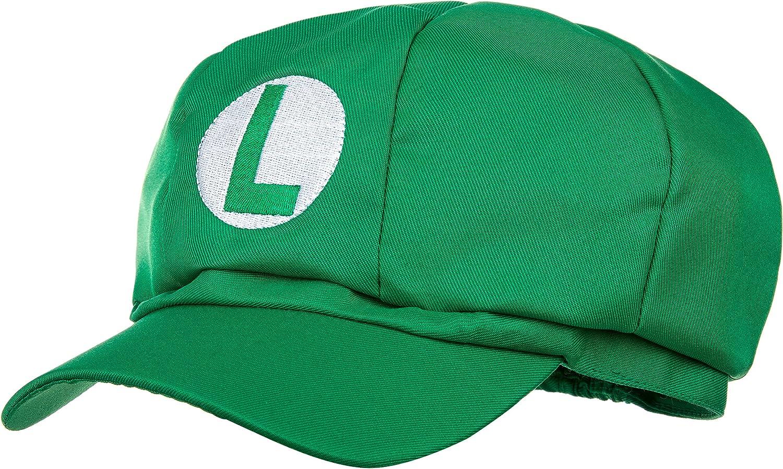Luigi sombrero verde para adultos y niños Carnaval Disfraz de ...