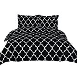 Amazon Price History for:Printed Duvet-Cover-Set - Brushed Velvety Microfiber - Luxurious, Comfortable, Breathable, Soft & Extremely Durable - Wrinkle, Fade & Stain Resistant - Hotel Quality By Utopia Bedding (Queen, Black)