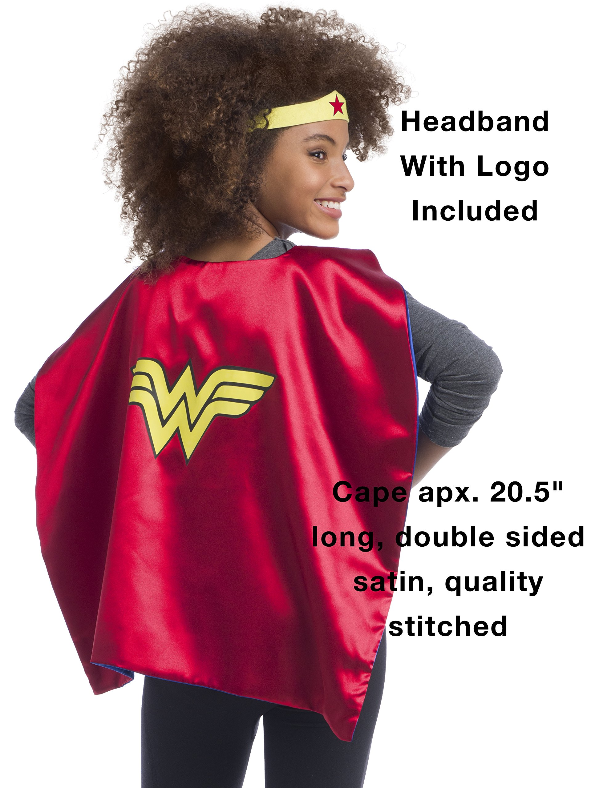 Rubie's Super Hero Cape Set Officially licensed DC Comics Assortment  4 Capes, 2 Masks, and 2 Headbands, One Size (Amazon Exclusive) by Rubie's (Image #3)