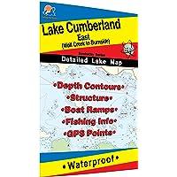 Lake Cumberland-East Fishing Map (Wolf Creek to Burnside)