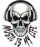 Music is my Life Skull Aufkleber Sticker Bands Musik Autoaufkleber Totenkopf