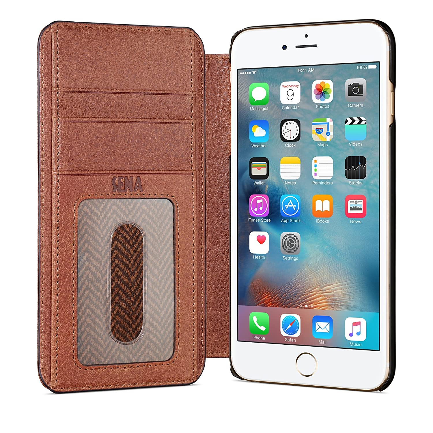 sneakers for cheap f58bf 0c6c0 Sena Ultra Thin Wallet Book , Thinnest book style wallet case solution for  the iphone 6 PLUS & 6s PLUS