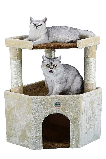 Amazon.com: GO Pet Club 32 en. Esquina de gato Condo de ...