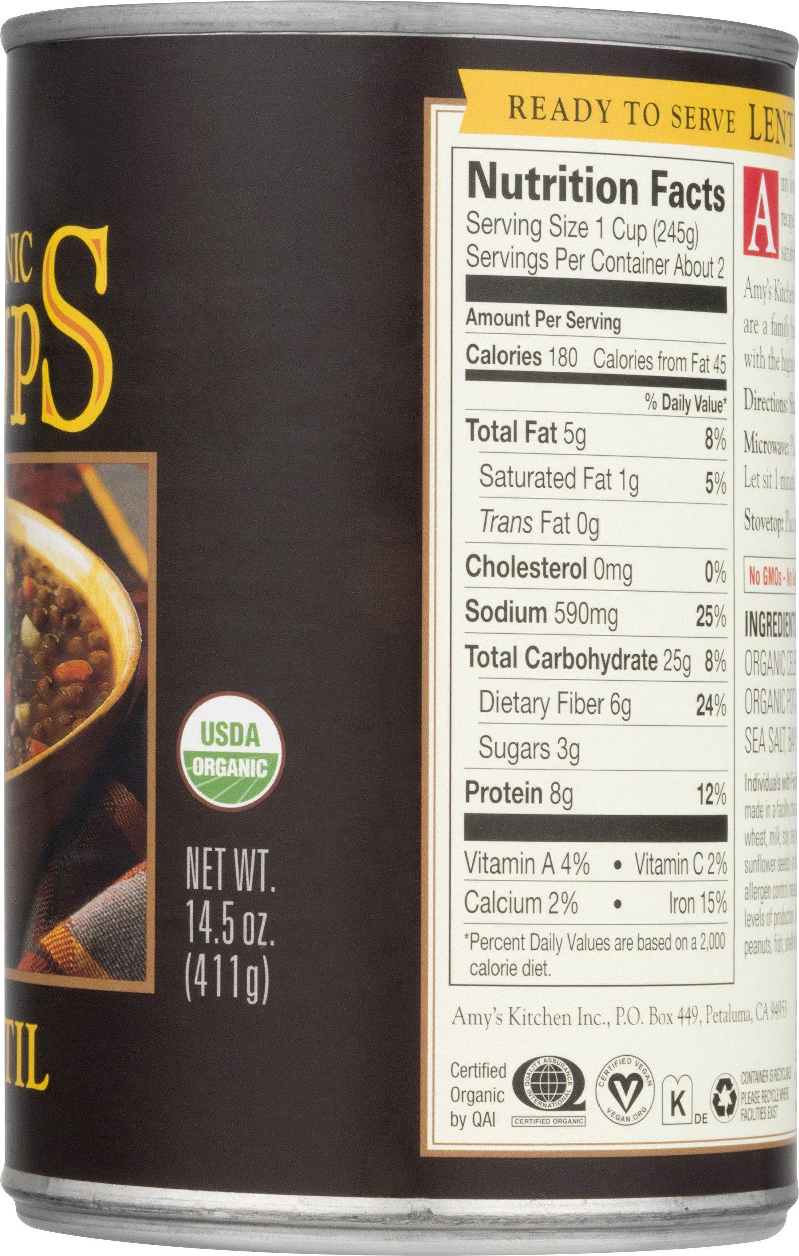 Amy's Soups, Organic Lentil Soup, 14.5 Ounce by Amy's (Image #10)