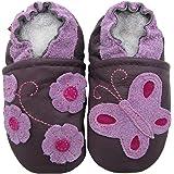 Carozoo Papillon Fleur Violet (Purple Butterfly Flower), Chaussures Enfant/Bébé Semelle Souple Fille