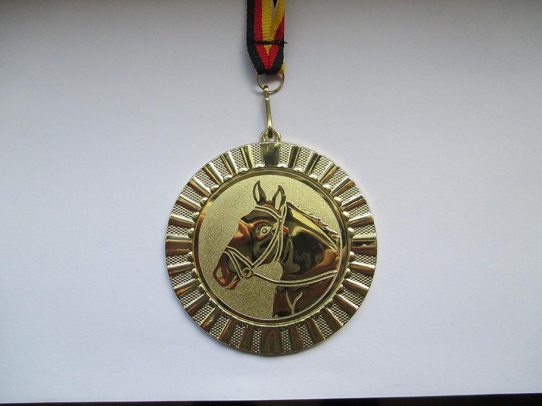 e107 Gro/ße Metall 70mm Bodenturnen Gold Turnen Fanshop L/ünen Medaillen Gymnastik mit Medaillen-Band - mit Alu Emblem 50mm Medaille Damen