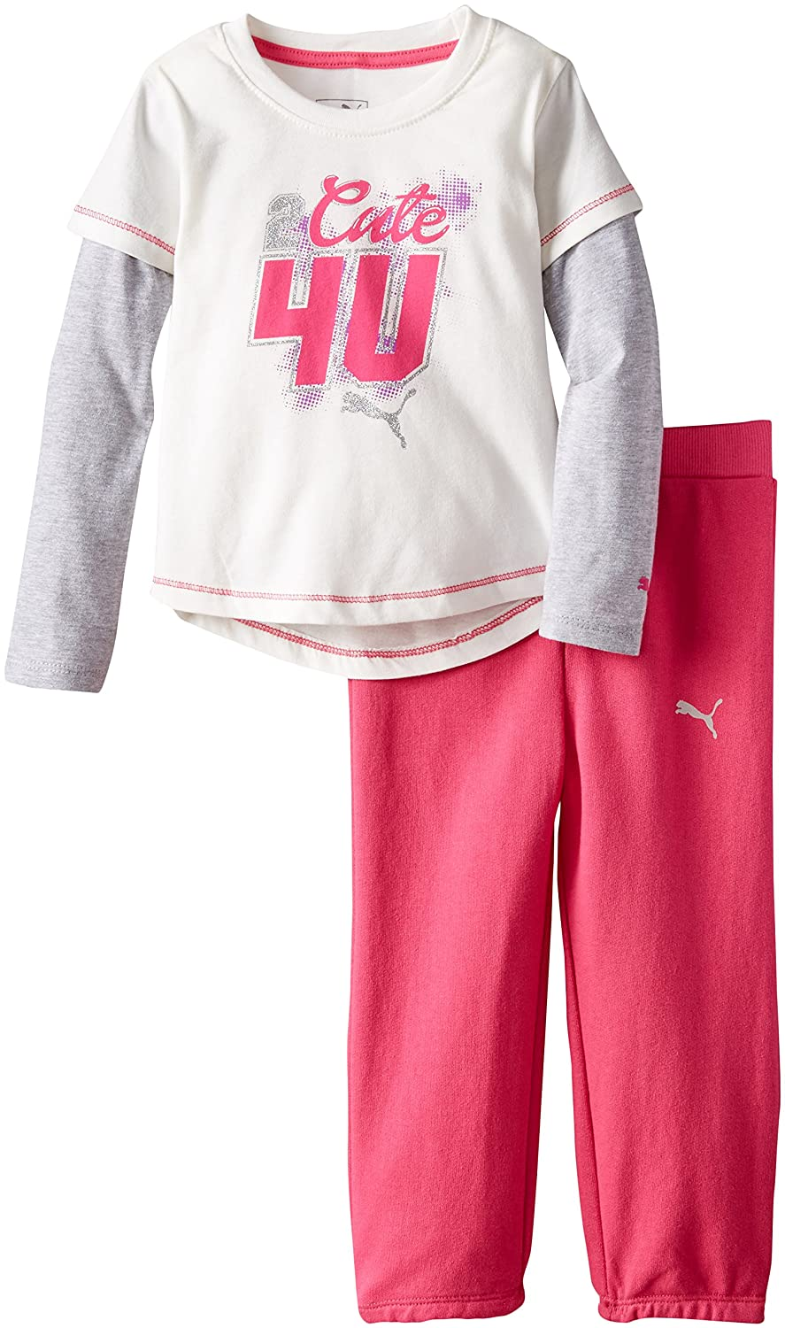 PUMA Little Girls' Twofer and Pant Set 1155094
