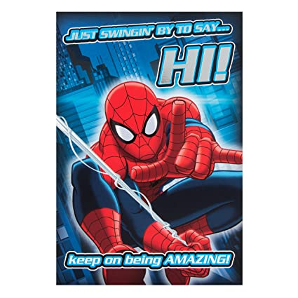 Hallmark Tarjeta de cumpleaños, diseño de Spiderman, con ...