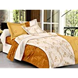 HOME ELITE Abstract Print 100% Cotton Double Bedsheet with 2 Pillow Covers , Multicolor