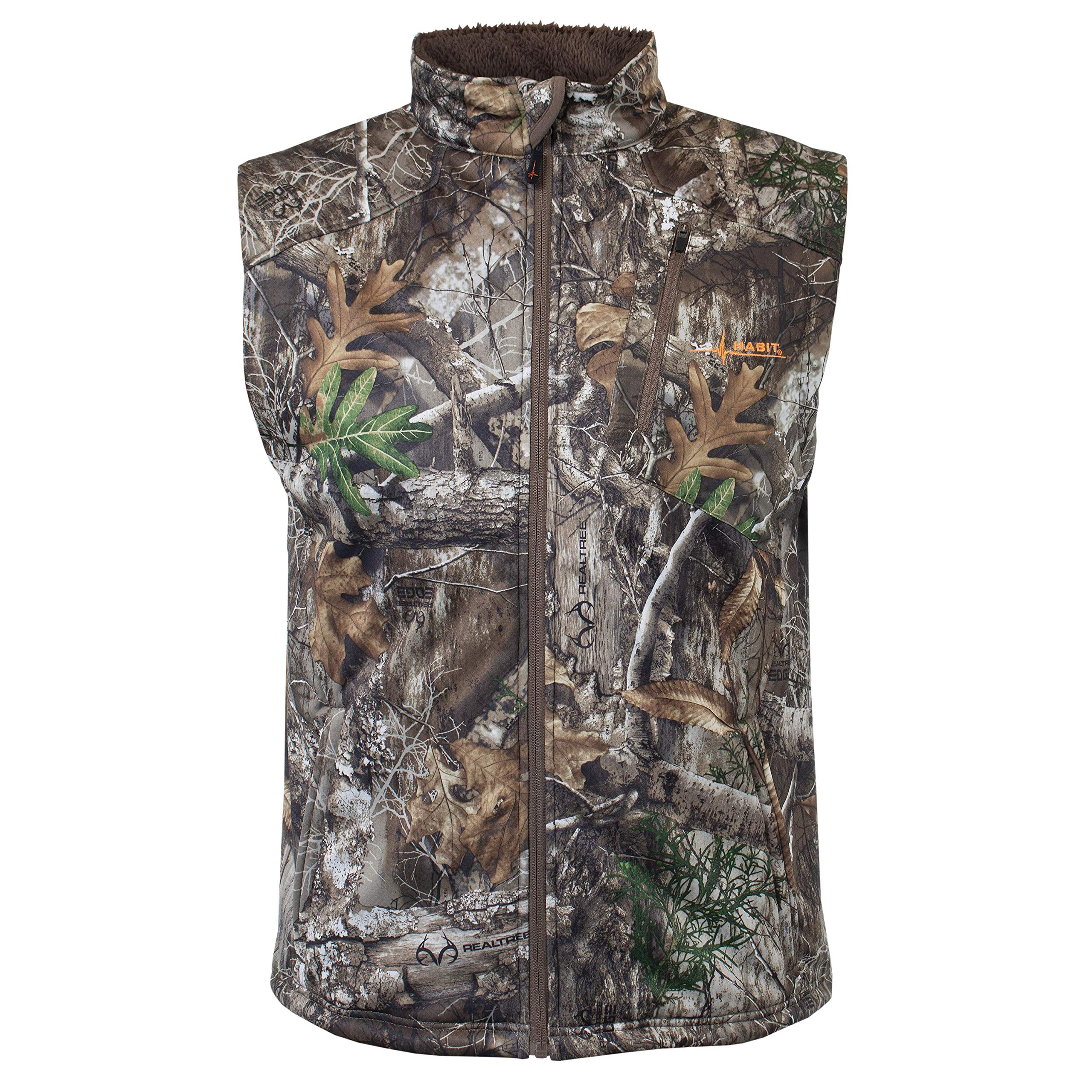 HABIT Men's Big Branch SherpaShell Vest, X-Large, Realtree Edge/Cub by HABIT